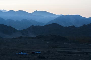 Mountains in blue shade, Ladakh Region, India