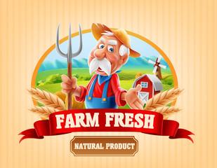 fresh farm illustration