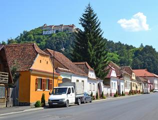 Street in Rasnov city, Romania