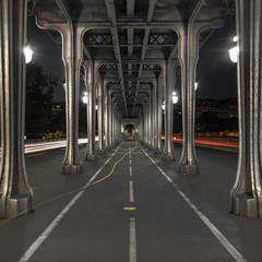 The Bir Hakeim Bridge in Paris