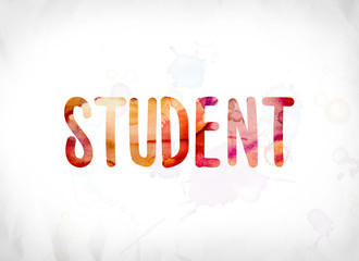 Student Concept Painted Watercolor Word Art