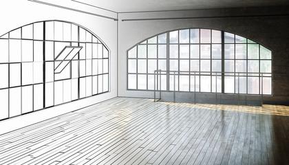 Empty Postindustrial Area (scetch)