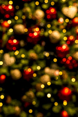 Christmas lights background blurred