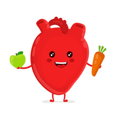 Strong funny healthy happy heart