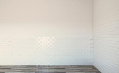 Spacious bathroom, clean, beautiful, luxurious, bright room. 3D rendering.. Empty interior
