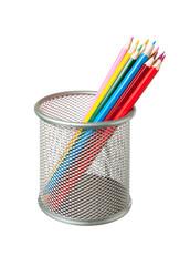 Pencils in basket