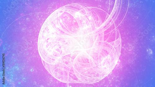 Mandala Fraktal Abstrakt Spharisch Bunt Kunst Stockfotos Und