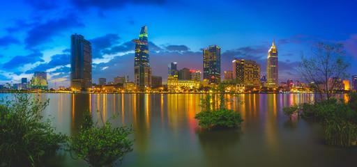 Ho Chi Minh City, Vietnam - Nov 25, 2017: Ho Chi Minh City & Saigon Cityscape, Vietnam