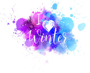 I love winter splash