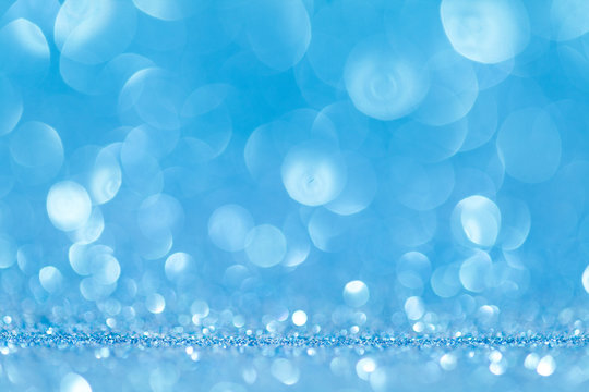 Abstract blue glitter sparkle background