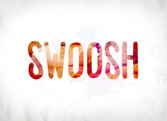 Swoosh Concept Painted Watercolor Word Art