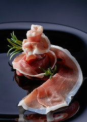 Prosciutto with rosemary.