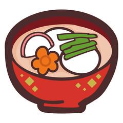 お雑煮のイラスト素材
