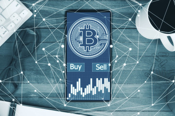 Cryptocurrency and finance concept
