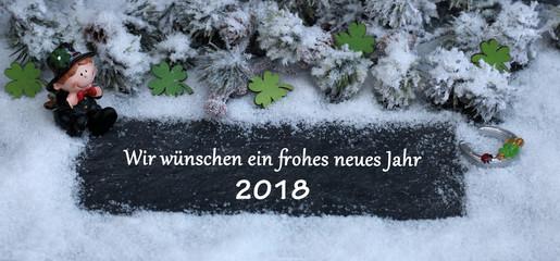 Wir wünschen ein frohes neues Jahr 2018\