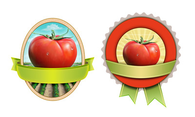 Tomato labels with clipping mask