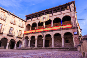 Siguenza Town Hall square  Guadalajara province, Castilla-La Mancha, Spain