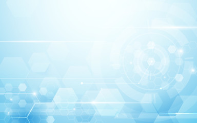 Wall Mural - Abstract hexagons technology digital hi tech concept background. Space for your text
