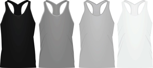 Sleeveless t shirt. vector illustration
