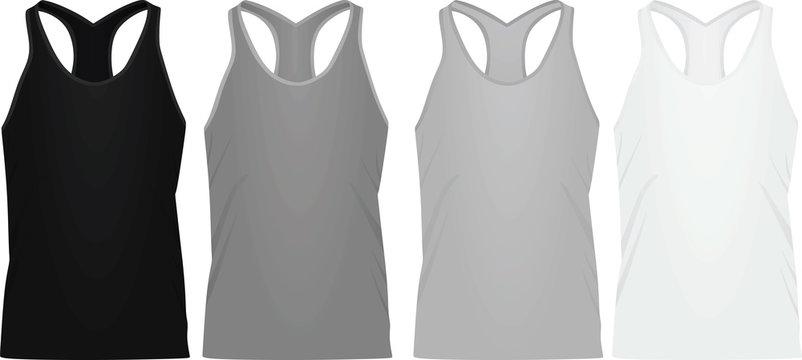 Sleeveless t shirt. vector illustration