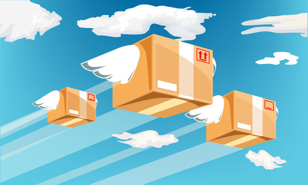 Air transport,it helps to send many products so fast.