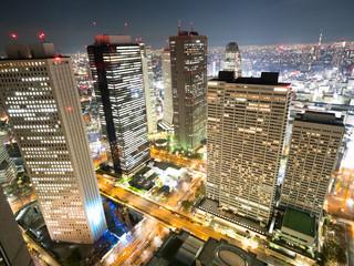 Fototapete - 新宿の夜景