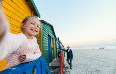 Little girl at Muizenberg beach
