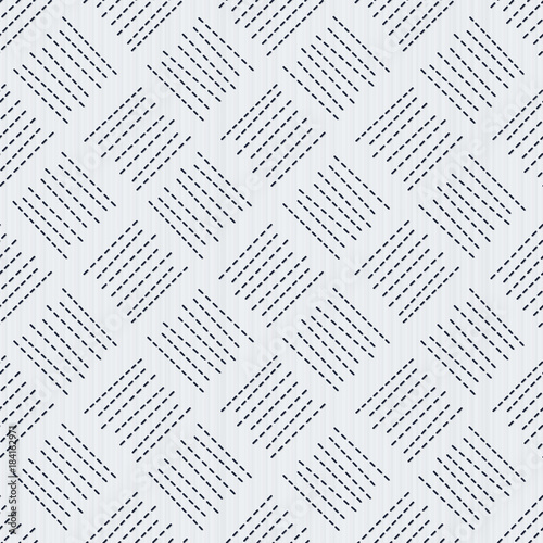 Sashiko Traditional Japanese Embroidery Seamless Pattern Abstract