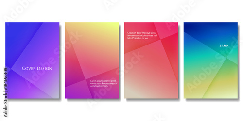 set of vector colorful brochure templates abstract three dimensional blocks with gradient effect applicable - Colorful Brochure Templates