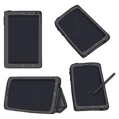 Vector Set of Cartoon Tablet PC
