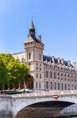 The Concierge and Pont au Change along the River Seine, Paris. France