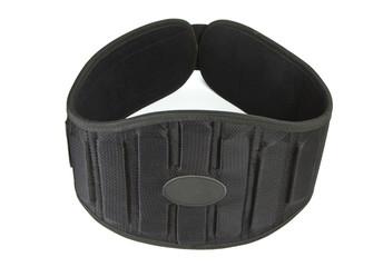 Sports equipment, athletic belt, weight lifting belt, black belt.