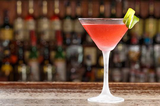 Alcohol cocktail cosmopolitan
