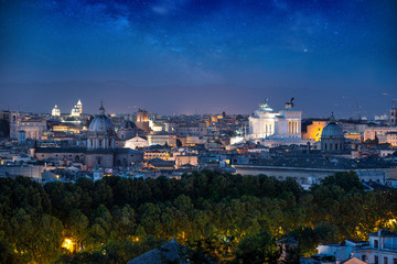 Beautiful view in Rome. Landmark photography about italian monuments