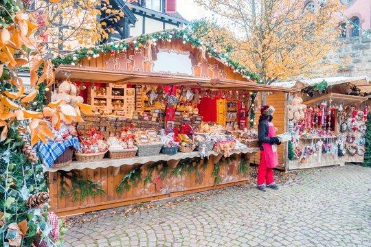Christmas market in Eguisheim, Alsace, France
