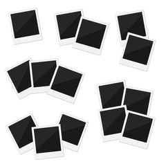 6 groups of blank retro frames on a white background.