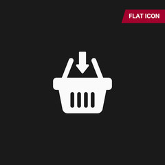 Basket vector icon, Shopping Sign isolated on white background. Online shop or e-shop concept. Flat design style