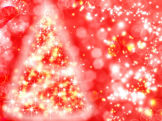 christmas tree background with garland lights