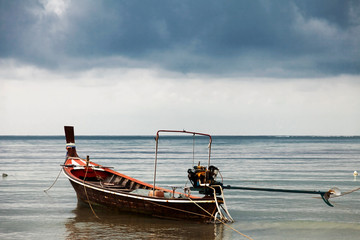 Boat in the tropical sea.