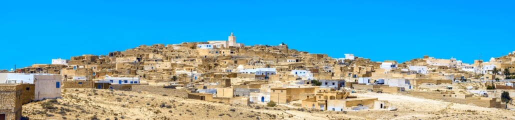 Village Tamezret in Tunisia. North Africa