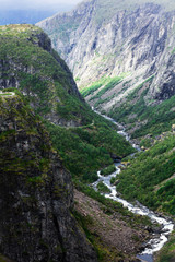 Mabodalen valley in Hordaland, Norway