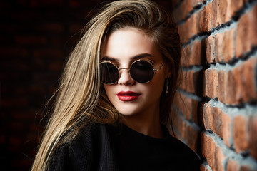 stylish girl in sunglasses