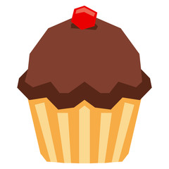 ImprimiCartoon Cupcake Isolated On White Background