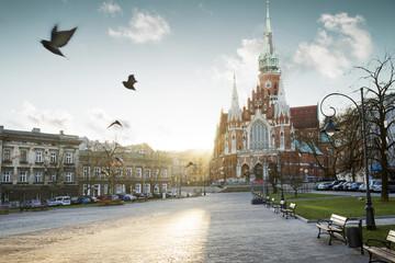 Poster Cracovie Kościół św. józefa na Podgórzu w Krakowie