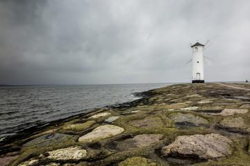 View on White lighthouse - Swinoujscie Poland