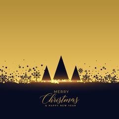golden christmas tree festival background