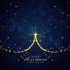 beautiful sparkle christmas tree vector background