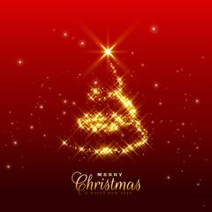 shiny sparkles christmas tree design