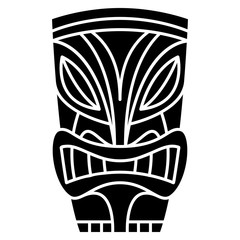 Cartoon Tiki Idol Isolated On White Background
