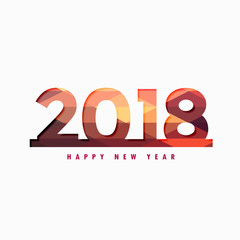 happy new year 2018 design with colorful backdrop